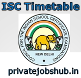 ISC Timetable