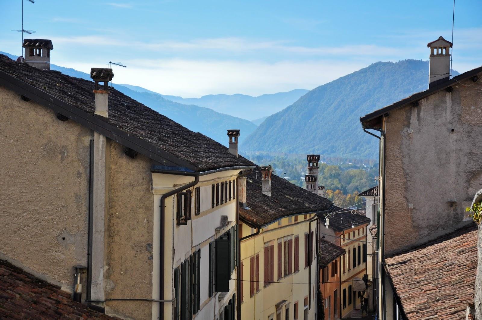 The View from Palazzo della Ragione, Feltre, Veneto, Italy