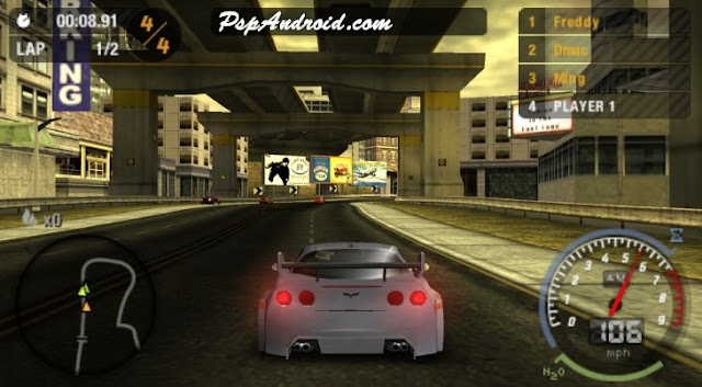 NFS Most Wanted PPSSPP