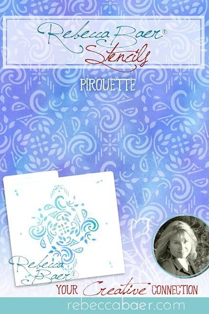 Pirouette Stencil | RebeccaBaer.com