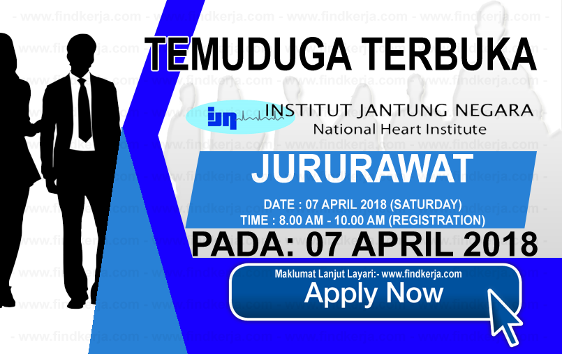 Jawatan Kerja Kosong IJN - Institut Jantung Negara logo www.findkerja.com april 2018
