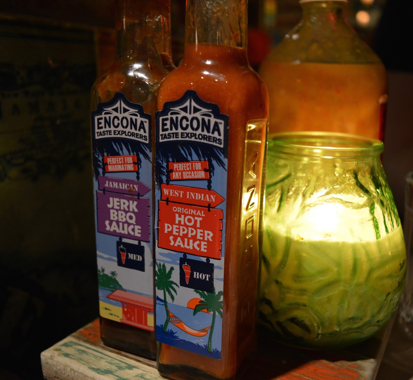 Spicy hot pepper table sauce at Turtle Bay Newcastle