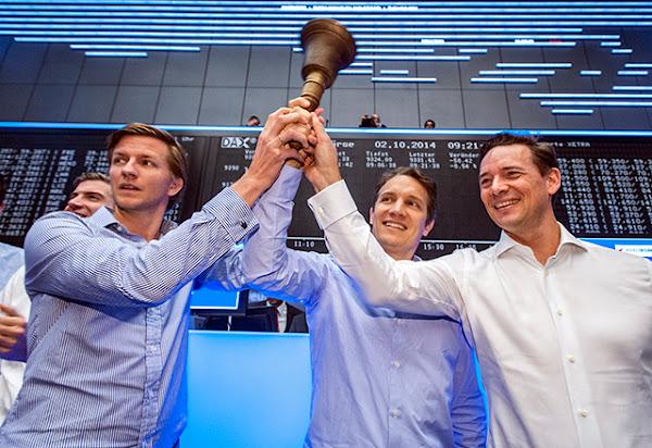 Rocket Internet核心經營團隊:Rocket Internet集團董事總經理Alexander Kudlich(左)、執行長Oliver Samwer(中)、財務長Peter Kimpel(右)。