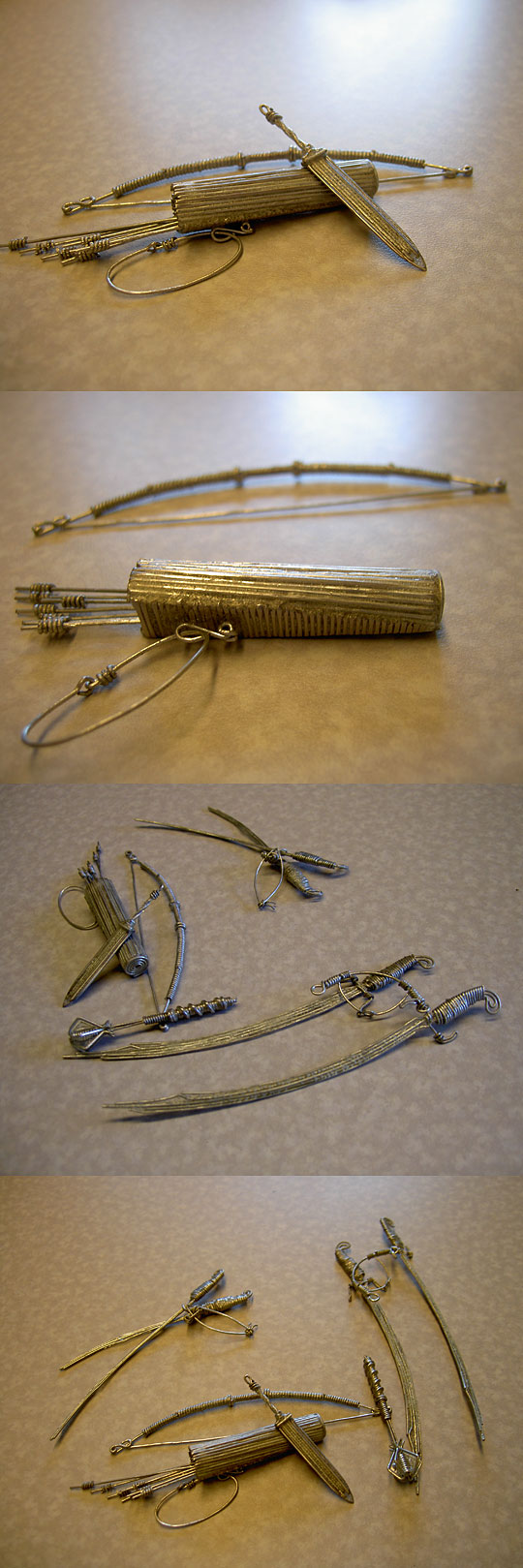 weapons made out of paper clips