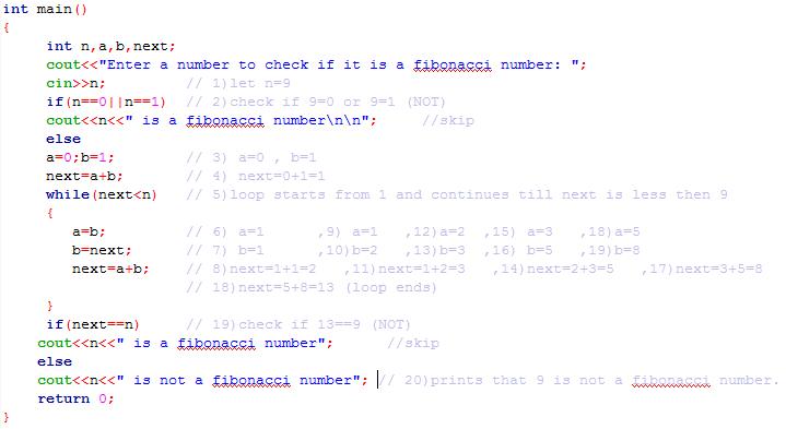 writing a fibonacci program in c++