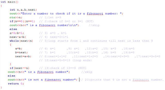 source code find Fibonacci number c++