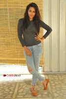 Actress Bhanu Tripathri Pos in Ripped Jeans at Iddari Madhya 18 Movie Pressmeet  0027.JPG
