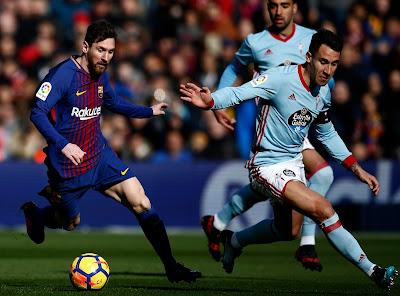 موعد مشاهدة مباراة برشلونة وسيلتا فيغو الثلاثاء 17-4-2018 ضمن الدوري الأسباني و القنوات الناقلة