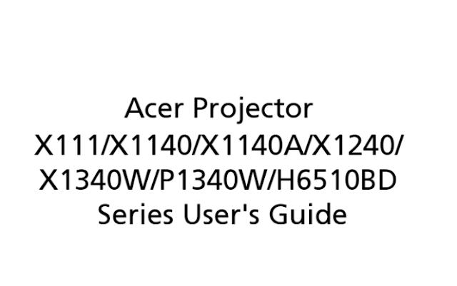 Acer H6510BD Manual