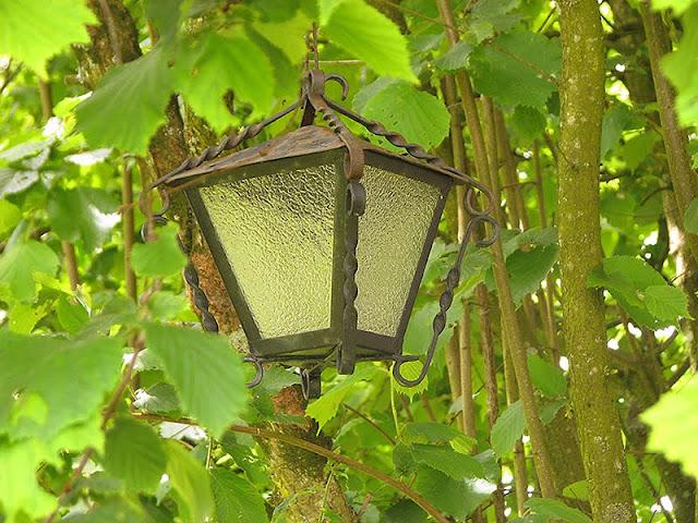 Lanterne récup pour le jardin