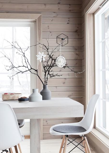 decoracion navideña nordica, moderna y minimalista