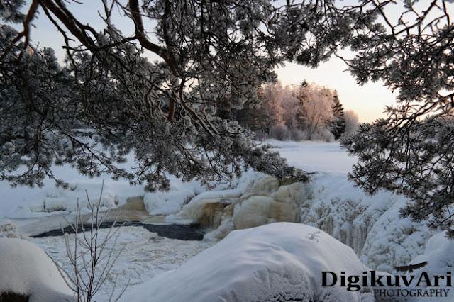 Hourunkoski jäässä Pyhäjoki
