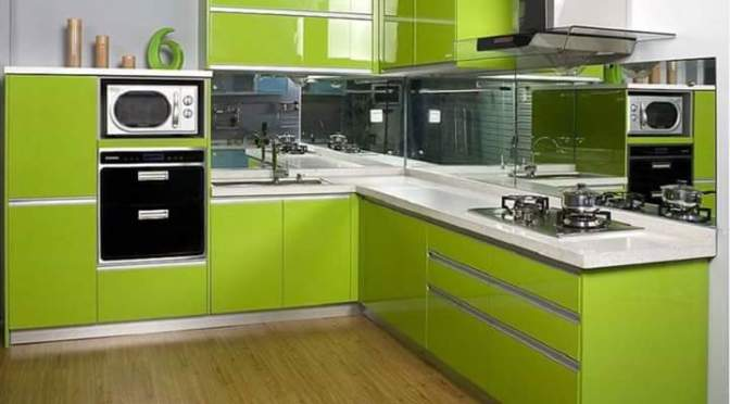 21 Model Desain Kitchen Sets Hijau