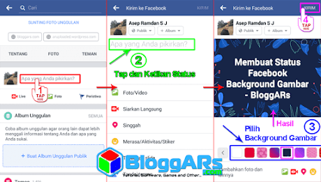 Status Facebook Background Gambar