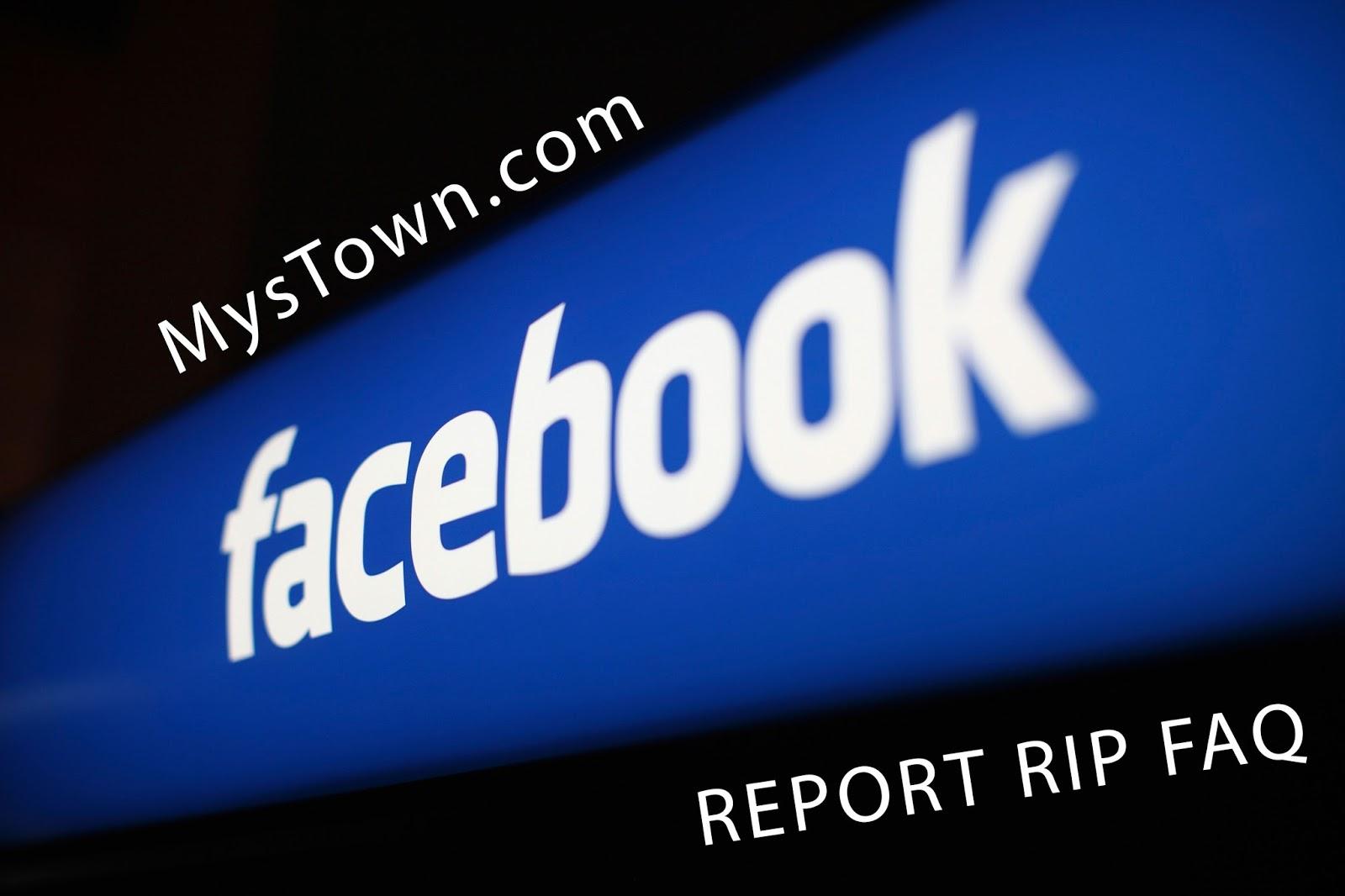 report faq facebook