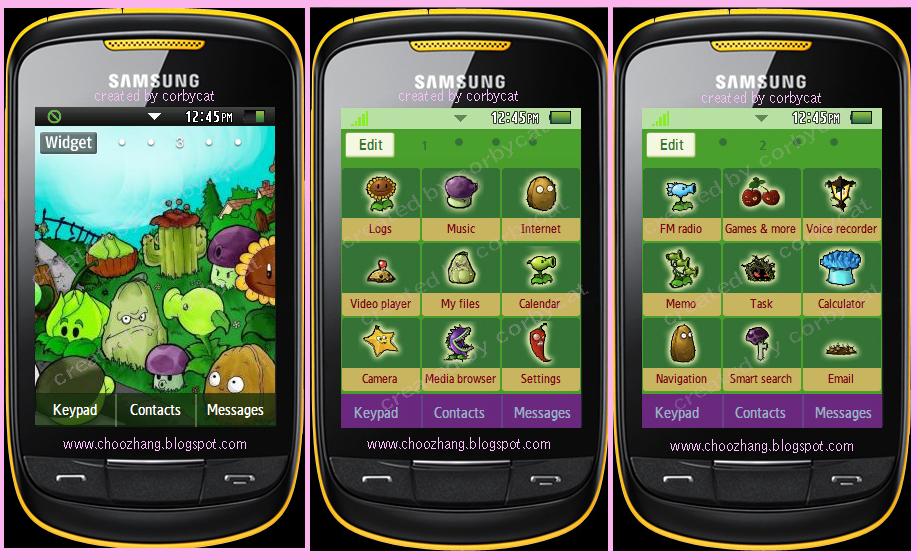 tema para o celular samsung gt s3850