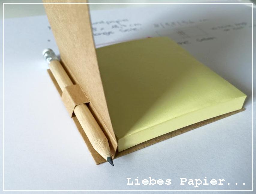 liebes papier notizblock mit bleistift kleine anleitung. Black Bedroom Furniture Sets. Home Design Ideas