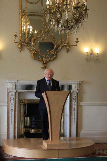 Der Empfang durch den Staatspräsidenten von Irland