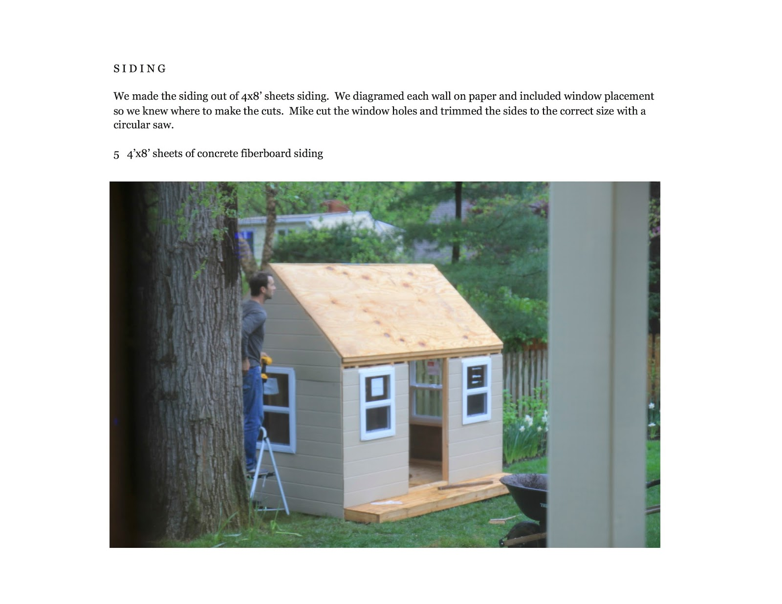 Jenny steffens hobick we built a playhouse diy workbook for Blueprints for playhouse