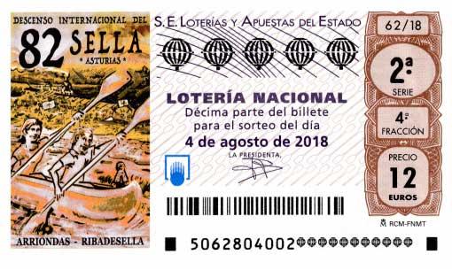 Loteria nacional Sorteo especial de agosto - sábado 4 de agosto de 2018