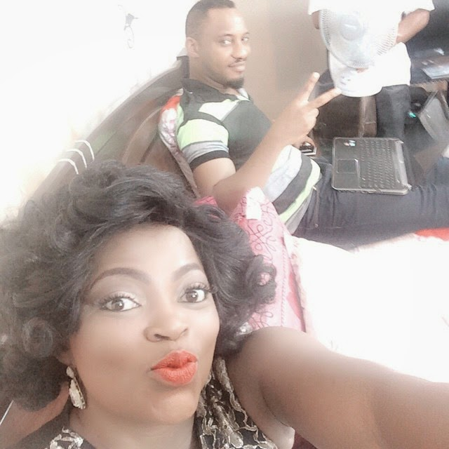 funke akindele movie set