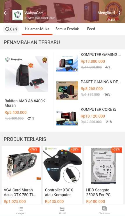 Toko Komputer Terlaris WAHYUCOM di Marketplace Lazada.
