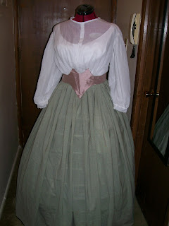 Repro 1860s Victorian White & Silk Waists