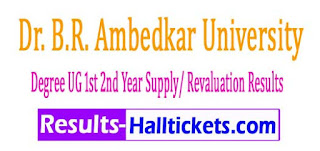 BRAU Degree UG 1st 2nd Year Supply Revaluation Results 2017