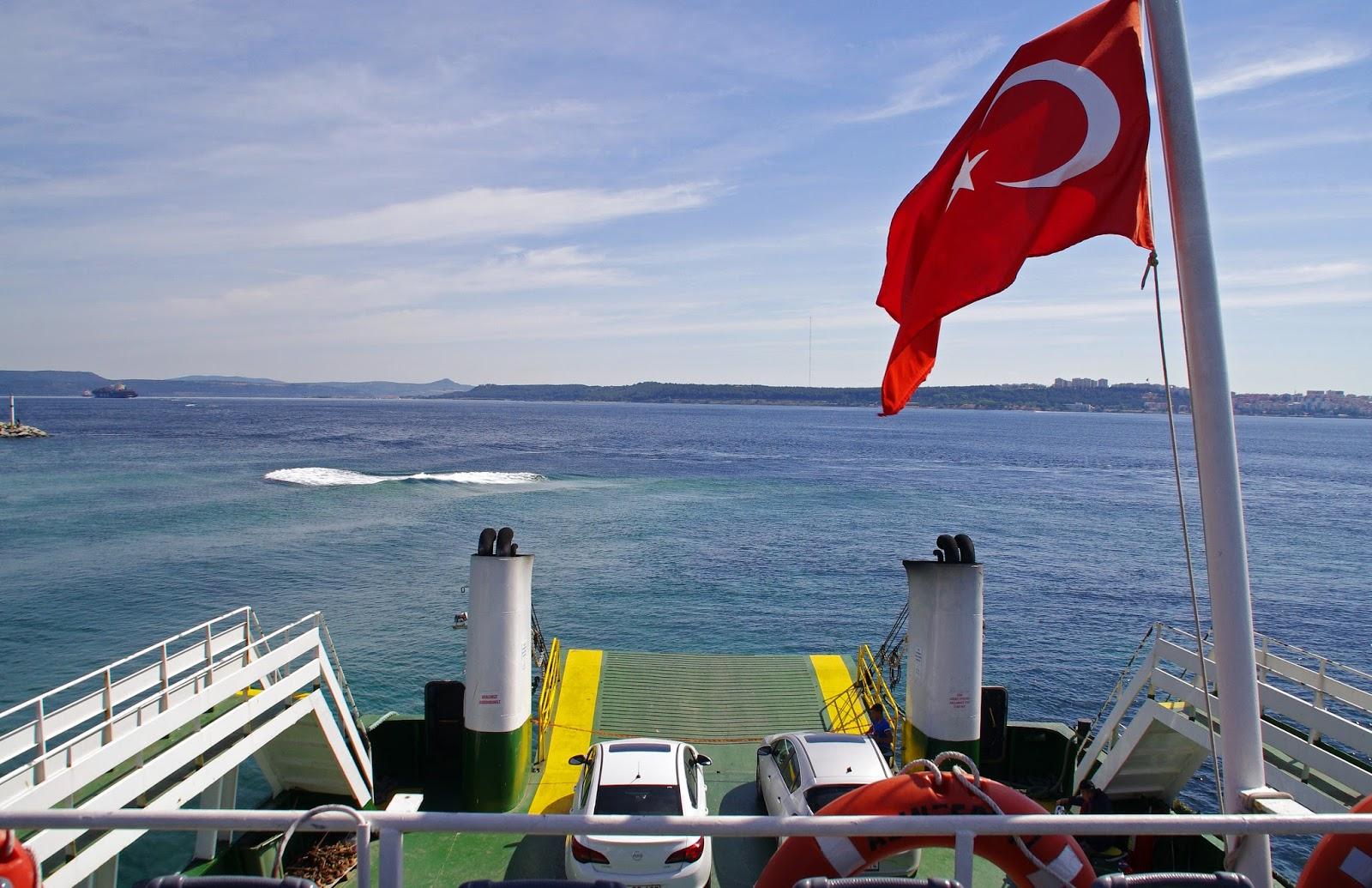 Ferry across Dardanelles Strait