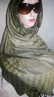 Jual Pashmina Kashmir Gradasi Motif Anyaman Bambu (Pasmina Kasmir)