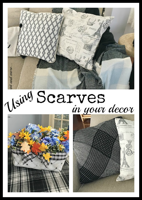 Vintage, Paint and more... how to use scarves from your wardrobe to decorate your home with texture and make it a cozier retreat