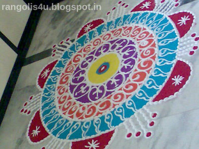 Multidesign circle rangolis