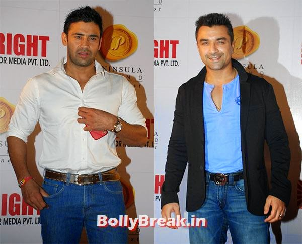 Sangram Singh, Ajaz Khan, Ranbir, Hrithik at Bright awards 2014