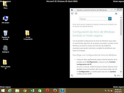 Modo a pruebad de fallos windows 8.1