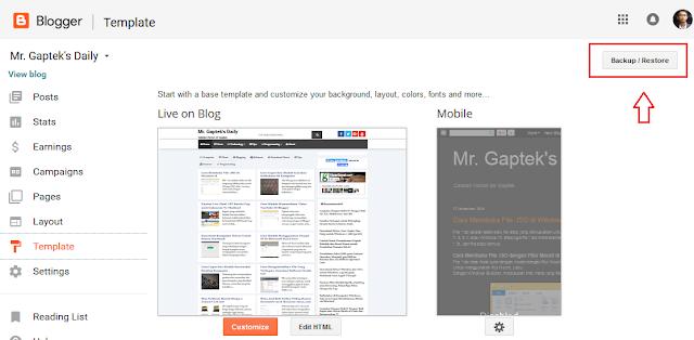 Cara Mengganti Tema Blogger dengan Tema Hasil Download