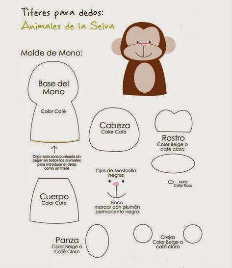 Mono, titere de dedo con moldes