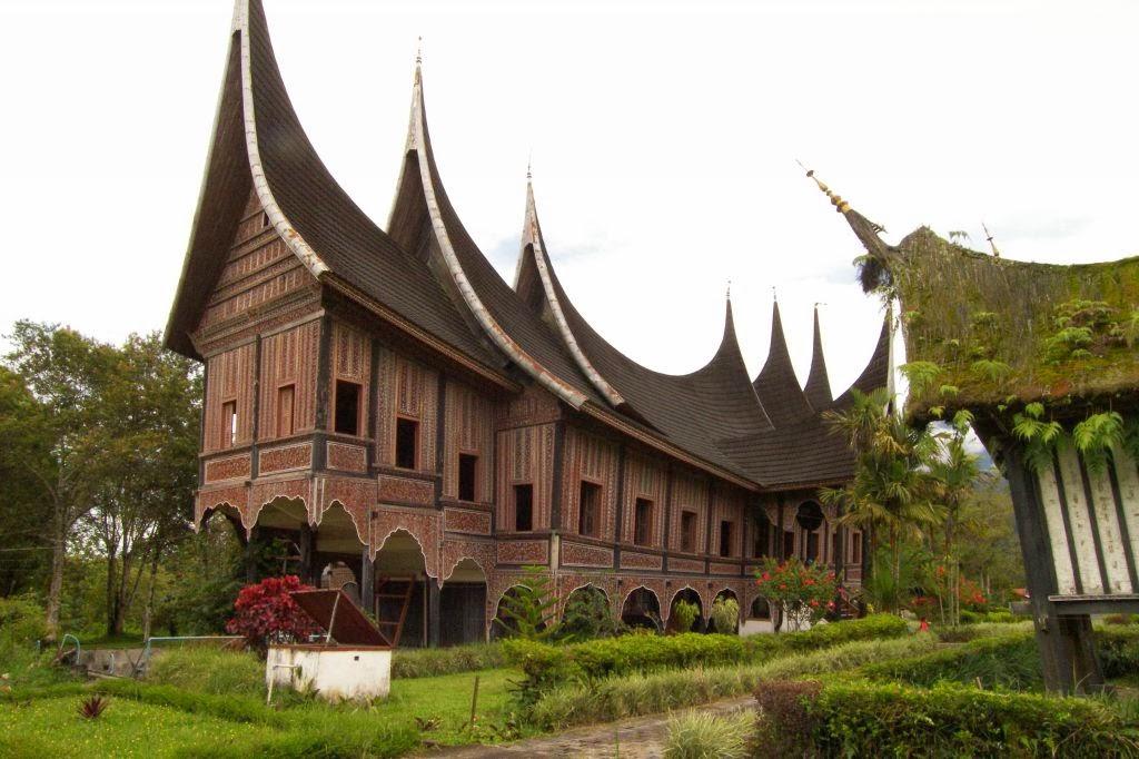 Rumah Adat Minangkabau Padang Sumatra Barat Gadang Rumah Adat