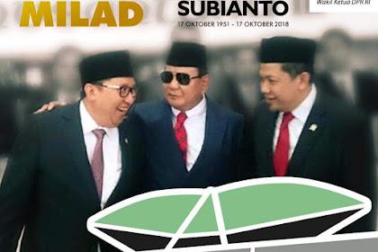 Ucapkan Selamat Milad, Ini Kesan Fahri Hamzah Tentang Prabowo