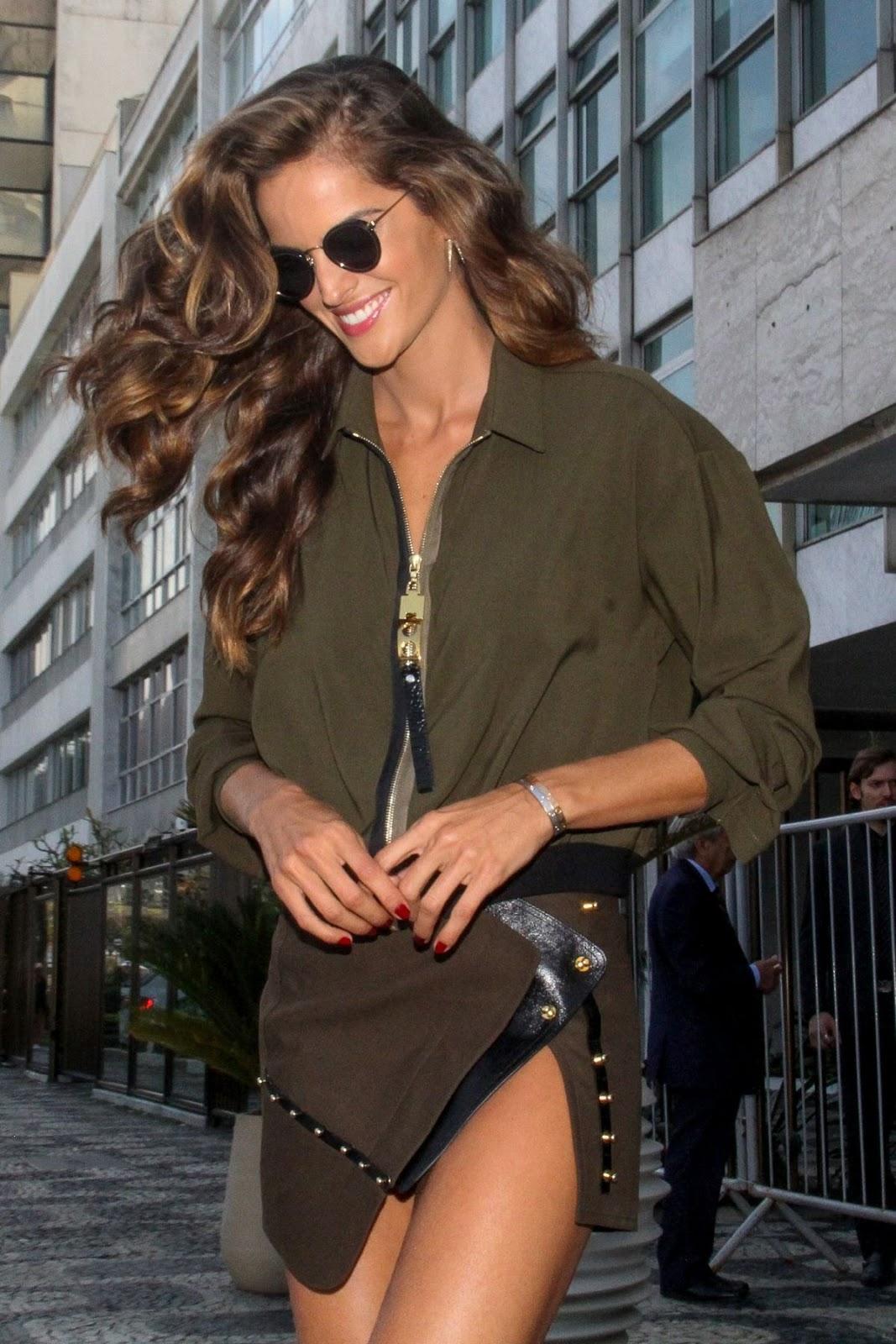 Izabel Goulart Leaves her Hotel in Rio De Janeiro