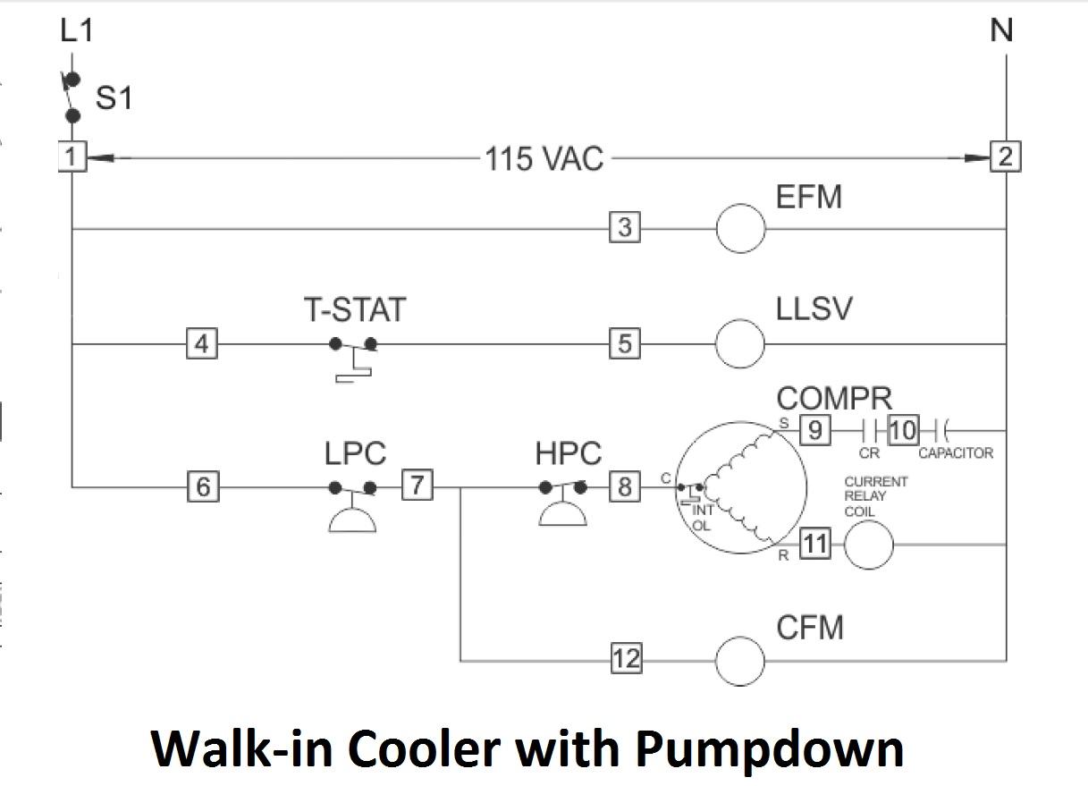 Walk In Freezer Wiring Diagram Wiring Data