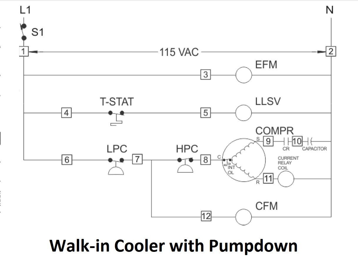 Walk In Freezer Wiring Schematic Simple Diagram Dryer Door Switch Mechanical Marine Systems Engineering Cooler For Ge