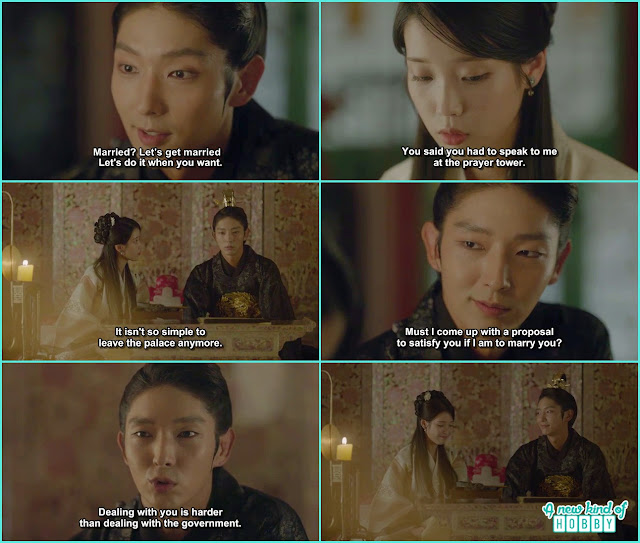 wang so proposed hae soo but she said for a proper proposal which he wante dto say at the prayer temple - Scarlet Heart Ryeo - Episode 17 (Eng Sub)