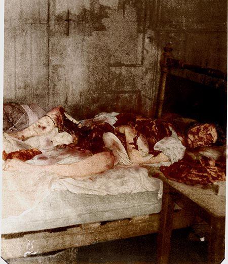 Thi thể của Mary Jeanette Kelly khi được phát hiện