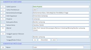 Aplikasi Excel Data Pejabat