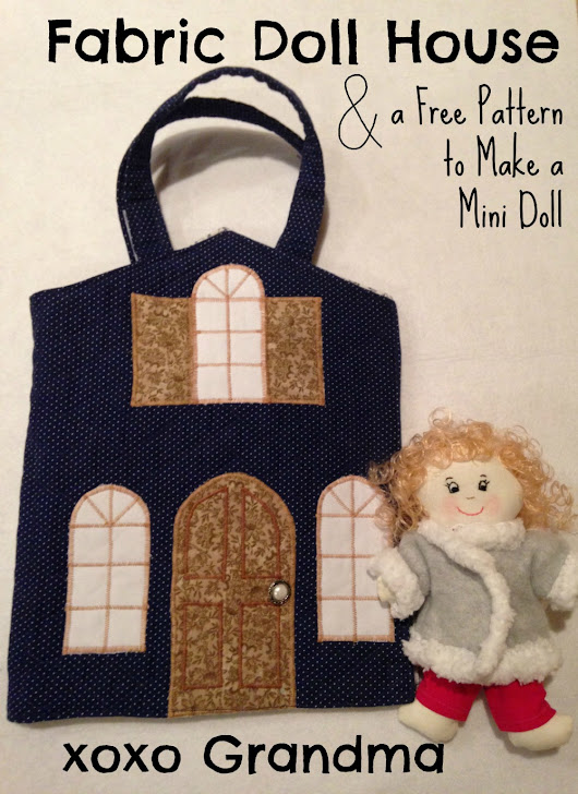 Fabric Doll House & a Free Pattern to Make a Mini Doll