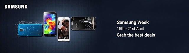 List of Offers on Flipkart for Samsung Mobile Week (15th to 21st April)