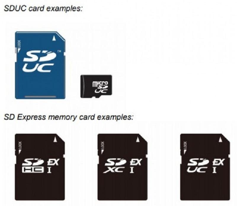 SD Express memory card samples