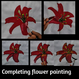 Fabric painting on clothes, flower painting, fabric painting, easy tutorial, best fabric painting on clothes, flower painting, fabric painting for begginers