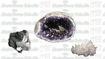 mineral exfoliado y fracturado