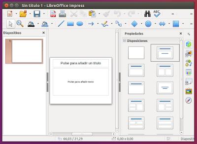 LibreOffice Impress abierto